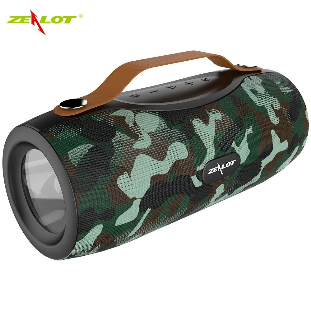 Zélot S29 haut-parleur sans fil Bluetooth Radio fm haut-parleur Portable Subwoofer + lampe de poche + batterie externe + Support carte TF, clé USB