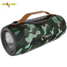 Zealot s29 bluetooth alto falante sem fio rádio fm portátil subwoofer + lanterna + banco de energia + cartão tf de suporte, unidade flash usb