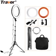 Travor RL-18 для фотографирования и кольцевой светильник с сумкой для переноски 240 шт. светодиодных шариков внутри 55w кольцевой светильник лампа для макияжа& светильник штатив-Трипод