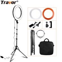 Travor RL 18 หรี่แสงได้การถ่ายภาพแหวนกระเป๋าถือ 240 PCS ลูกปัด LED ภายใน 55 W ringlight สำหรับแต่งหน้า & ขาตั้งกล้อง
