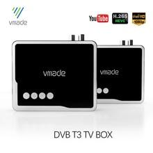 Vmade Hot Sale Spain Czech Republic Digital Terrestrial DVB T2 TV Tuner Receiver Set Top Box Fully HD 1080P H.265 USB Decoder
