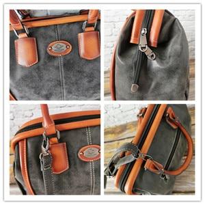 Image 4 - IMYOK Vintage Leather Womens Totes Luxury Hand Bags Ladies Designer Handbag Large Capacity Women Shoulder Bag Feminina 2020