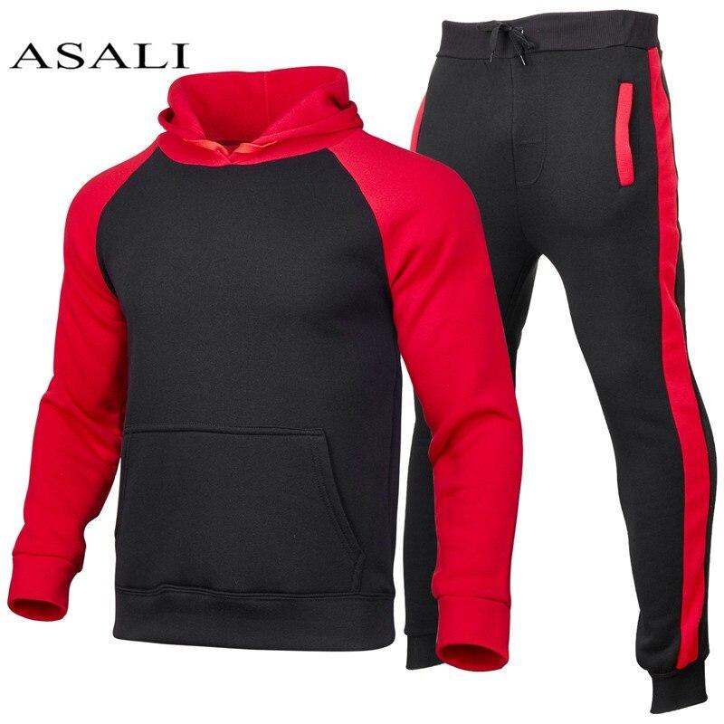 Sets Trainingsanzug Männer Herbst Frühling Mit Kapuze Lässige Männer 2 Stück Sets Sweatshirts männer Kleidung Pullover Hosen Anzug Hoodie