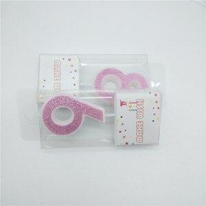 Image 5 - 番号 0 1 2 3 4 5 6 7 8 9 クリエイティブピンクのキャンドルキッズボーイズガールズハッピーバースデーケーキトッパーパーティーケーキの装飾