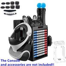 Pionowy stojak, chłodzenie wentylator chłodzący, gry wieża do przechowywania, stacja do ładowania, wielu na konsolę Playstation 4 PS4 Pro Slim PS Move PS VR