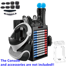 Vertical Stand,Cooling Fan Cooler,Game Storage Tower ,Charging Dock Station,Multi For Playstation 4 PS4 Pro Slim PS Move PS VR