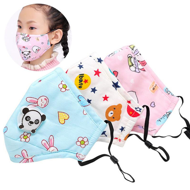 Tcare Cute Face Mouth Mask Reusable Breathable Cotton Protective Children Kid Cartoon Cute PM2.5  Mouth Face Mask 3