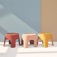 Banco pequeno anti skid mesa de café plástico fezes simples adulto espessamento fezes para crianças para sapatos fezes curtas|Puffs e otomanos| |  -