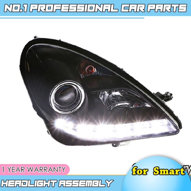 car accessories LED for Mercedes-Benz SLK <font><b>R171</b></font> SLK200 SLK350 SLK500 LED Projector <font><b>Headlights</b></font> with LED line Fit 2004-2012 year image