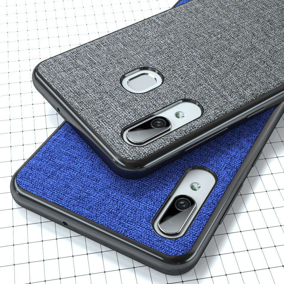 Color <font><b>Cloth</b></font> <font><b>Case</b></font> For <font><b>Samsung</b></font> Galaxy S10 Plus A9 A7 <font><b>A8</b></font> A6 <font><b>2018</b></font> A7 A5 2017 J8 J4 J6 Plus J3 J5 J7 S9 S8 Silicone Frame Cover image