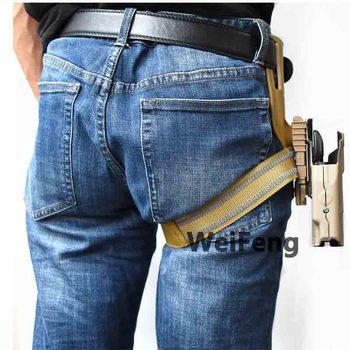 Tactical Drop Leg Band Strap QLS 19 22 Gun Holster Adapter for Safa Glock 17 Beretta M9 Hunting Pistol Waist Belt Platform 2