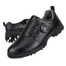 Обувь для гольфа мужские водонепроницаемые уличные кроссовки автоматические вращающиеся шипы Нескользящие дышащие PGM обувь для гольфа golf schoenen heren