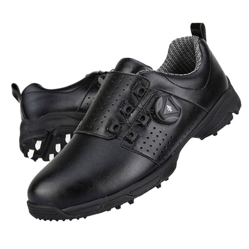 Golf Shoes Men Waterproof Outdoor Sneakers Automatic Revolving Spikes Non-slip Breatheble PGM Golf Shoe Golfschoenen Heren