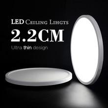 Vida lámparas de habitación LED lámpara de techo Ultra-Delgado blanco frío 9W 13W 18W 24W accesorio de iluminación de techo luces para dormitorio y cocina