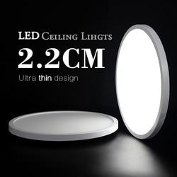 Salon lumières LED plafonnier Ultra-mince blanc froid 9W 13W 18W 24W luminaire plafonniers pour chambre à coucher et cuisine