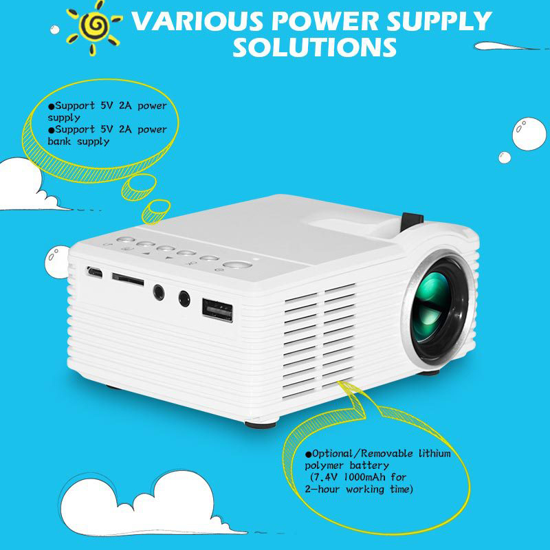4 k hd 3d mini projetor inteligente dlp d tv av usb tf cinema de cinema