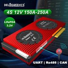 4S-Batería Inteligente BMS 150A 200A 250A UART 485, 12V, control por Bluetooth, almacenamiento de energía RV con balance