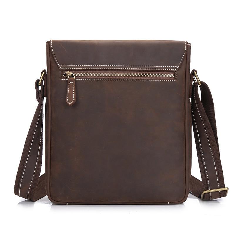 Retro Cow Leather Handbag Briefcase Men's Messenger Bag