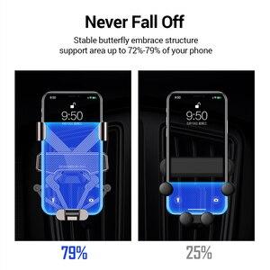 Image 3 - DIVI Schwerkraft Auto Telefon Halter für Samsung huawei xiaomi Auto Air Vent Clip Halterung Für iPhone 11 X Xs Max xiaomi auto Telefon Stehen