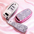 PC + Crystal Car Remote Smart Key Case Cover Fob For Audi A4 A5 A6 A7 A8 S4 S5 S6 S7 Q5 accessories