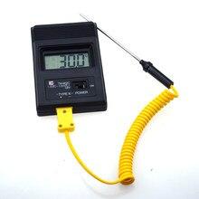 Medidor de temperatura TM-902C (-50c para 1300c), medidor de temperatura tm902c digital k sensor termômetro + termopar sonda detector agulha