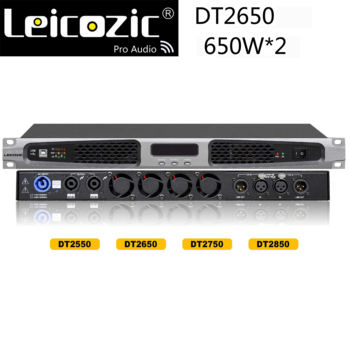 DT2650 Digital Amplifier 650W X2 RMS power amp 1u professional amplifier 1000w X2CH audio amp switching power pro sound system