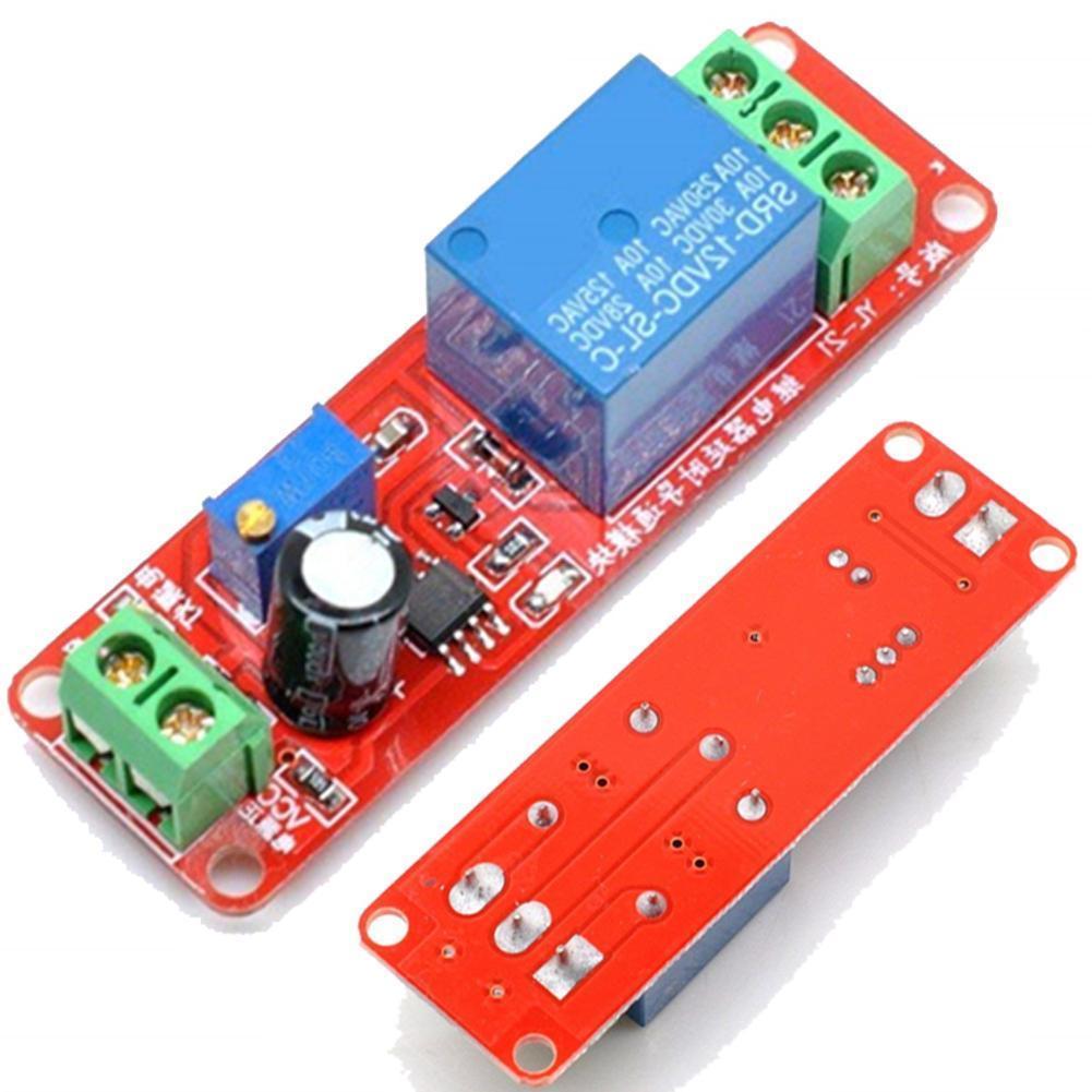 Ne555 interruptor do temporizador do disparador módulo de atraso ajustável 12v relé atraso 0-10 indicador dc led com placa tempo 10a seco f2d5