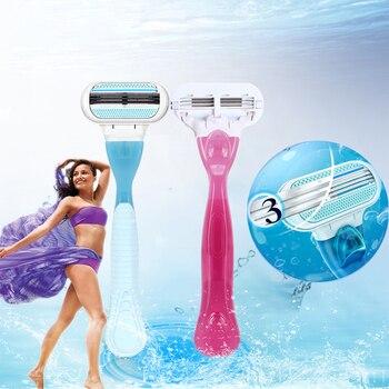Gillette Manual Shaving Women Razors Replaceable Blade Shaving Hair Safety  Lady Razor Head for Venus 3 Layer-Blade