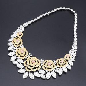 Image 3 - Nieuwe Dubai Bruids Sieraden Sets Voor Vrouwen Gouden Ketting Oorbellen Armband Ring Mode Charme Afrikaanse Bruiloft Nigeria Sets Sieraden