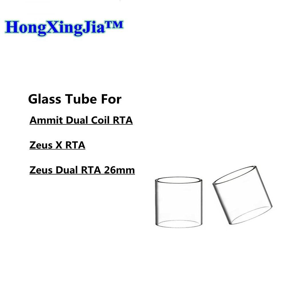 4/1pc Glass Tube For Zeus X Ammit Dual Coil RTA Tank Fit Geekvape Zeus Dual RTA 26mm Coil Vape Glass Tank