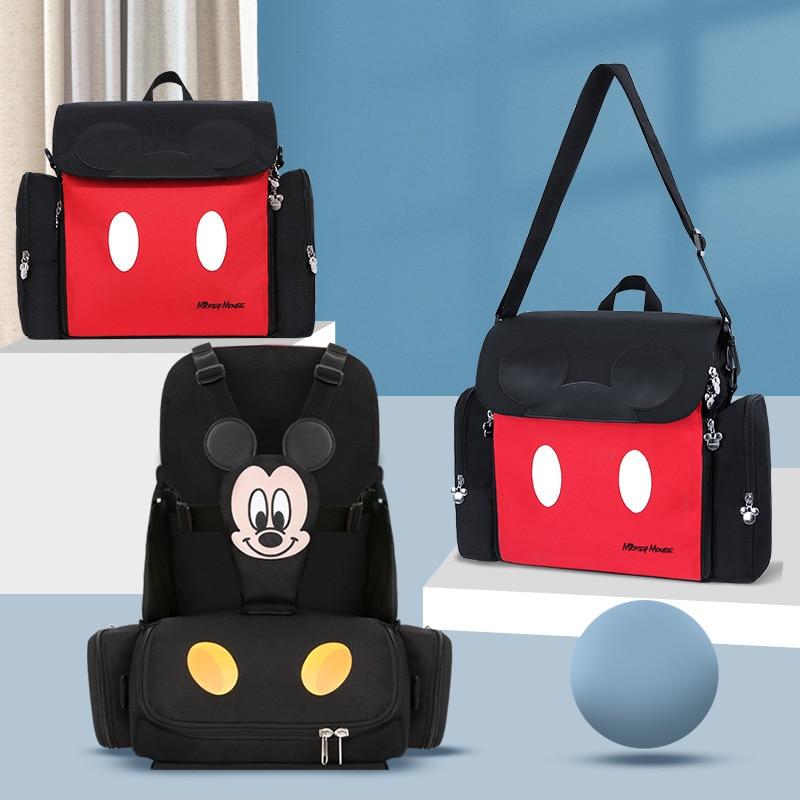 Sac à couches Mickey Minnie pour maman | Sac à dos Disney pour bébé, sac humide, mode maman organisateur couches de maternité, sac de chaise, sacoche
