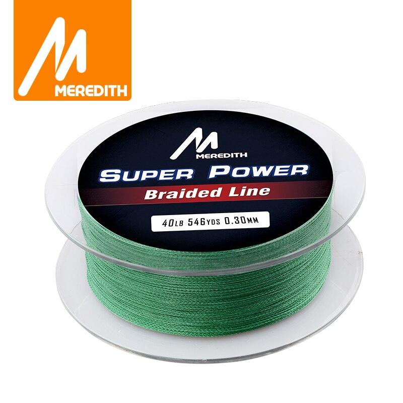 MEREDITH örgülü olta süper güçlü 500m Multifilament PE hattı sazan balıkçılık 10 20 30 40 50 60 40LB