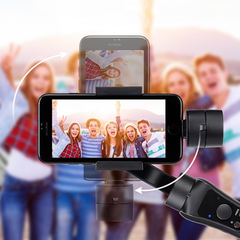 Estabilizador de cardán estabilizador portátil de mano Suave 4 3 ejes H con foco para Smartphone y Cámara de Acción grabación de vídeo - 5