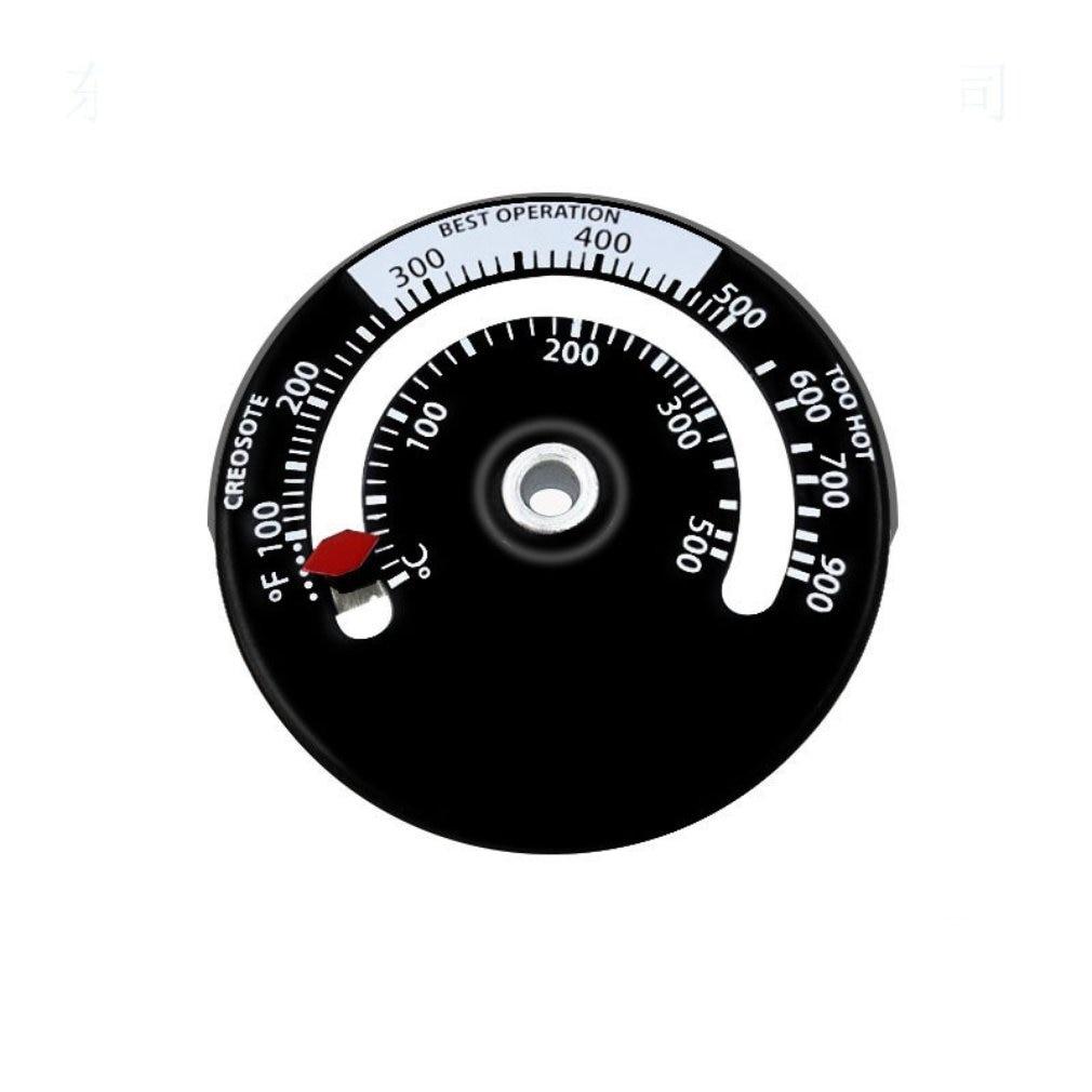 Magnetic Stove Flue Pipe Thermometer Stove Burn Indicator Heater Temperature Gauge Woodburner Stove Pipe Fan Thermometer