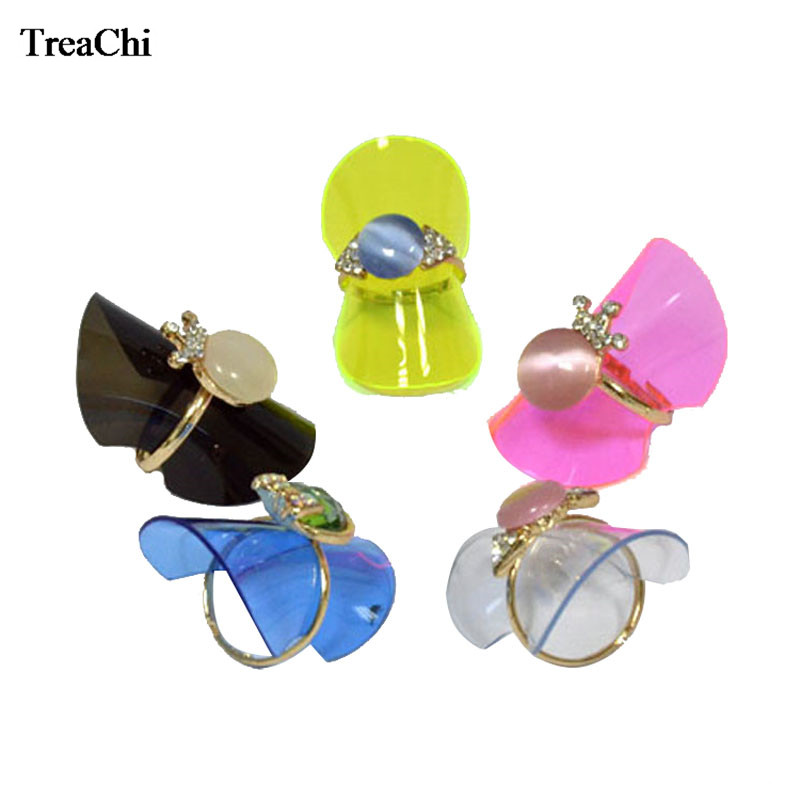 Wholesale Jewelry Display 38mm Plastic Ring Sheet Black Ring Holder Earings Fashion Jewelry Organizer 1pc  Ring Display