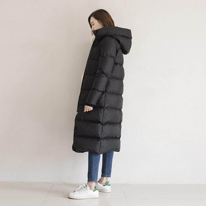 Autumn Winter Women Duck Down Jacket Warm Thicken Long Windbreaker Parka Hood Overcoat Abrigos Mujer Invierno Parka LX2538