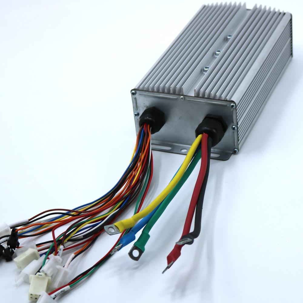 GREENTIME 24 MOSFET 2000W/2500W 60V 60Amax BLDC Motor Controller, EV Brushless Speed Controller