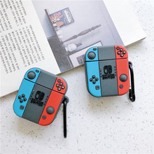 3D Cute Cartoon Switch Game Boy Wireless Bluetooth Headphone Silicone Coque Case For Apple Airpods 1/2 Earphone Protective