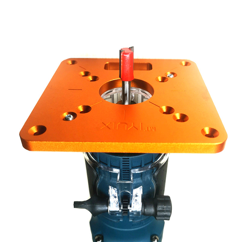 Universal RT0700C Aluminum Router Table Insert Plate Trimming Machine Flip Board For Woodworking Benches Router Table Plate