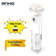 Paslanmaz çelik tuvalet kağıt rulosu Dispenser banyo kağıt tutucu standı ev depolama raf cep telefonu