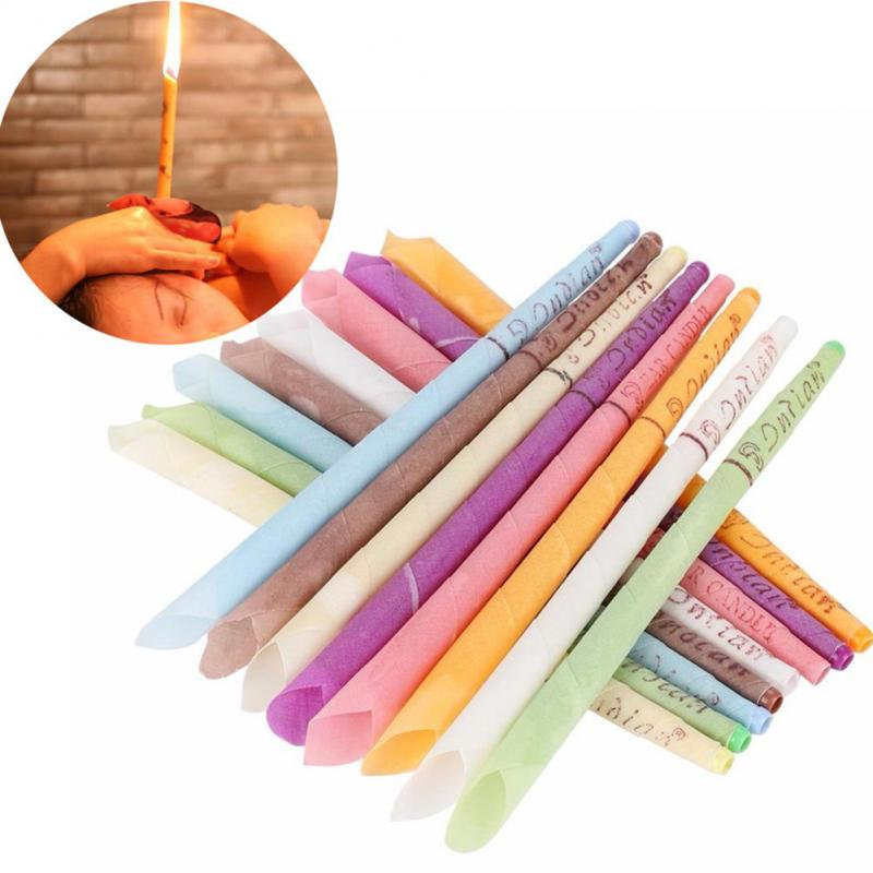 8 Colors Ear Cleaner Ear Candles Earwax Removal Fragrance Candles Natural Ingredients Ear Coning Treatment Health Care Tool