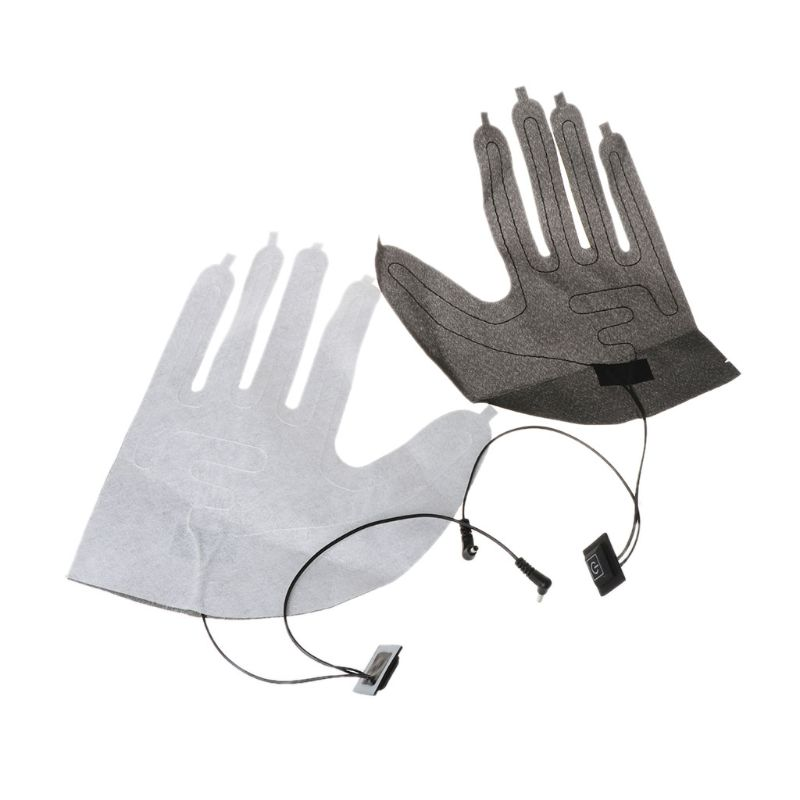 1Pair USB Electric Heated Pad For DIY Five-Finger Gloves 3 Speed Control Heating Sheet