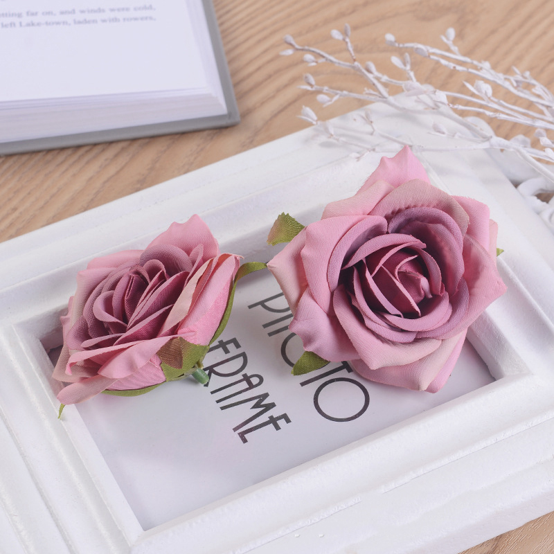 JAROWN Artificial Silk Roses Flowers Scrapbook Wedding Home Decor DIY Gifts Box Christmas Garlands Household Products Fake Flowers (10)