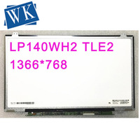 Frete grátis LP140WH2 TLE2 TLEA TLT1 TLA1 TLE1 TLF1 TLQ1 B140XW03 V0 V1 BT140GW03 V.0 Laptop Tela LCD 1366*768 LVDS 40pin