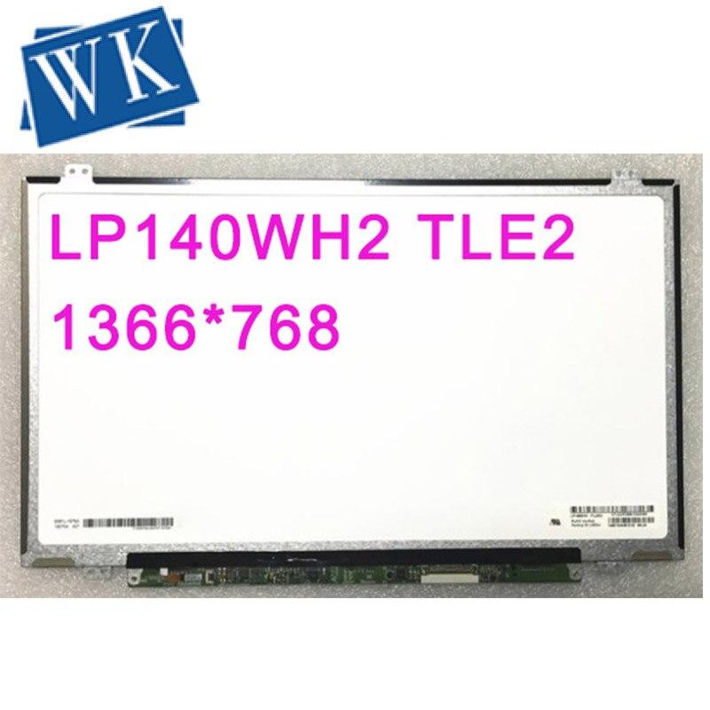 Livraison gratuite LP140WH2 TLE2 TLEA TLT1 TLA1 TLE1 TLF1 TLQ1 B140XW03 V0 V1 BT140GW03 V.0 écran lcd d'ordinateur portable 1366*768 LVDS 40pin