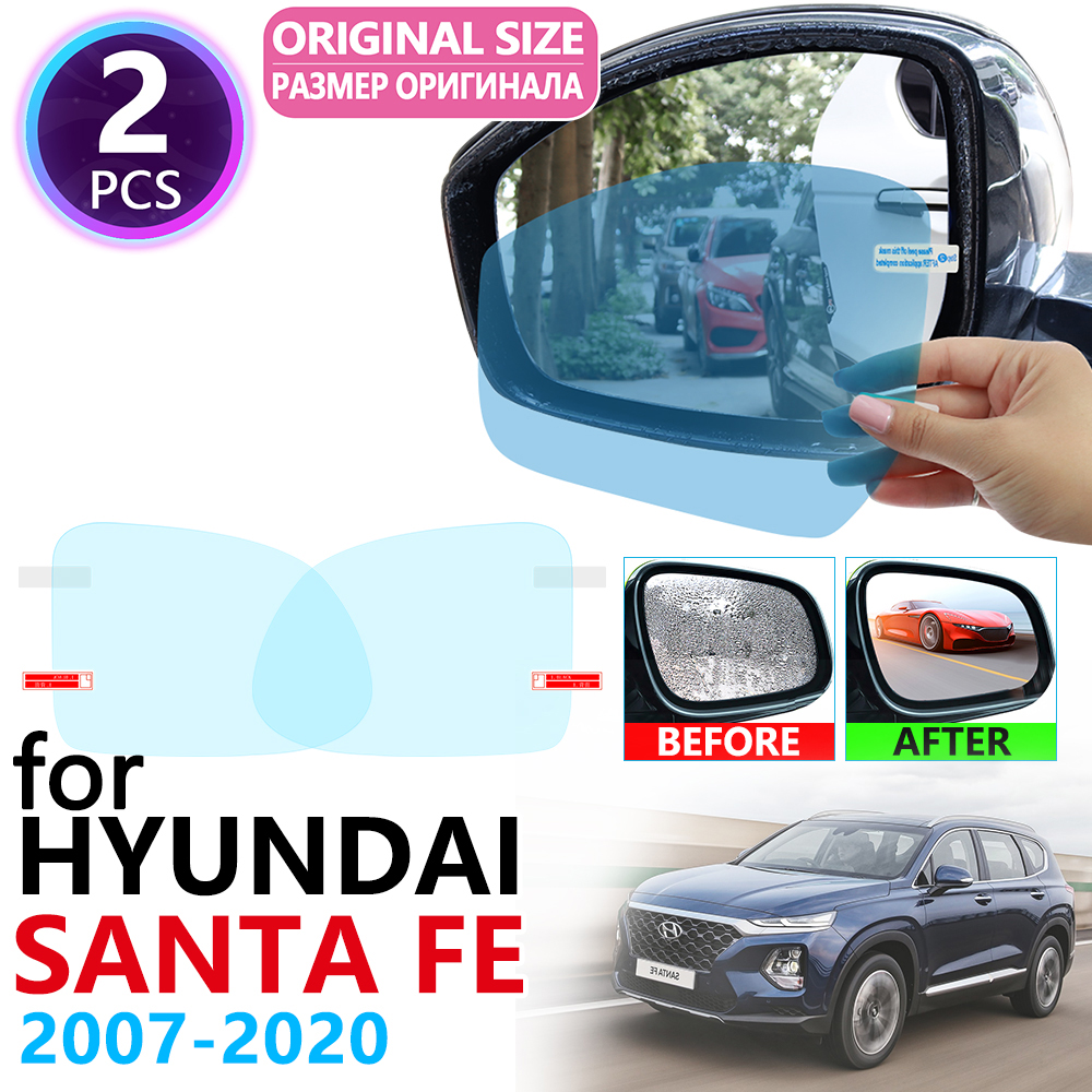for <font><b>Hyundai</b></font> <font><b>Santa</b></font> <font><b>Fe</b></font> CM DM TM ix45 2007~2019 Full Cover Rearview Mirror Anti Fog Film Accessories SantaFe <font><b>2010</b></font> 2015 2017 2018 image