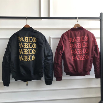 цена на I Feel Like Pablo Kanye Bomber Jacket Men Women Casual MA-1 Embroidery Force Pilot Jacket I Feel Like Pablo Military Jackets