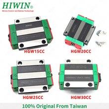 HIWIN HGW15CC HGW20CA HGW20CC HGW25CC HGW30CC ליניארי מקורבות בלוק עגלות עבור HGR20 HGR30 ליניארי רכבת