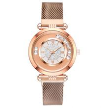лучшая цена New Fashion Hot Sale Women Watches Stainless Steel Rose Gold Mesh Watch Unique Simple Watches Casual Quartz Wristwatches Clock