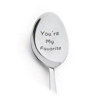 2020 New Valentines Day Gift Anniversary Gift for Boyfriend Present Stainless Steel Spoon You Are My Sunshine Girlfriend Gift image